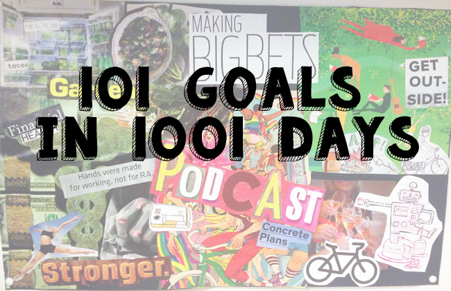 A collage of 101 goals in 1001 days