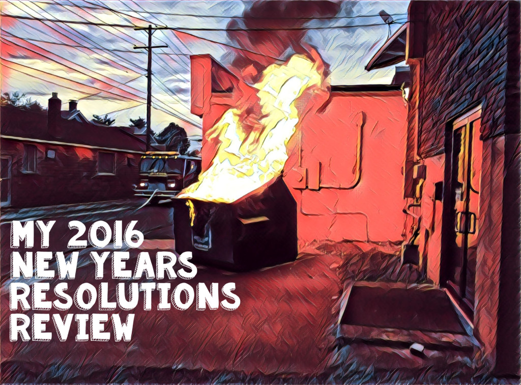 2016 New Year's resolution review
